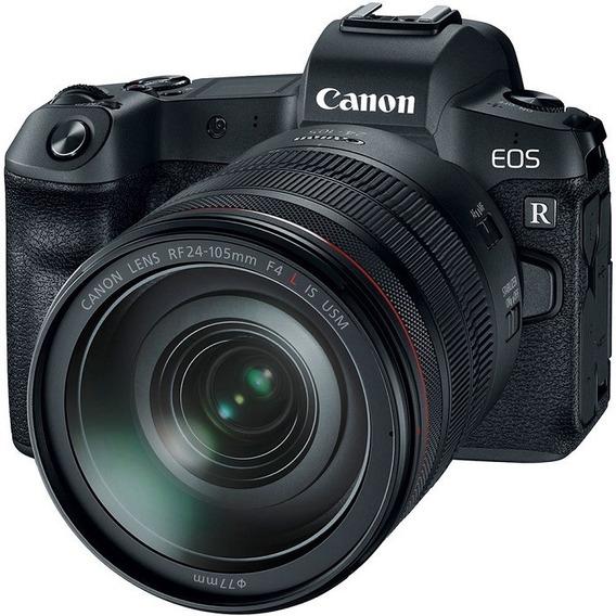Canon Eos R Lente Rf 24-105mm F/4l Is Usm + Adaptador De Montagem Ef-eos R Nota Fiscal