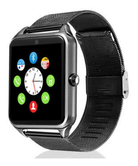 Smartwatch Metalico Reloj Inteligente Celular Sim Bluetooth