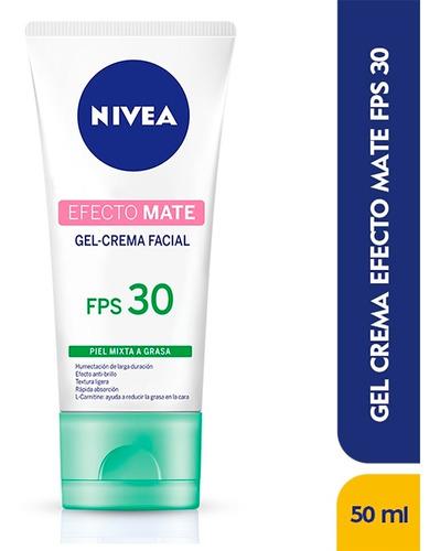 Gel Crema Facial Nivea Efecto Mate Fps30 X 50ml