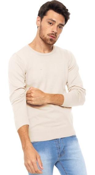 Sweater Hombre Liso 100% Algodón Slim Fit Varios Colores