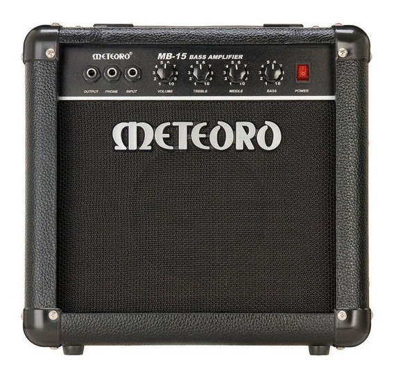 Amplificador Meteoro Mb15 Cubo Mb 15 15w Rms Contra Baixo