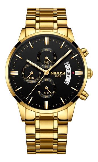 Relógio Masculino Nibosi Original De Luxo Todo Funcional