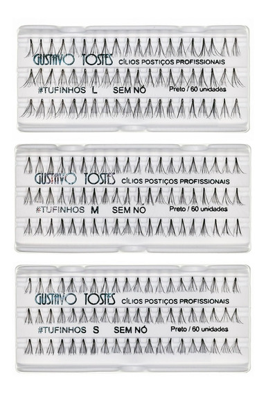 10 Cílios Tufinhos Sem Nó Long Medium Short Atacado