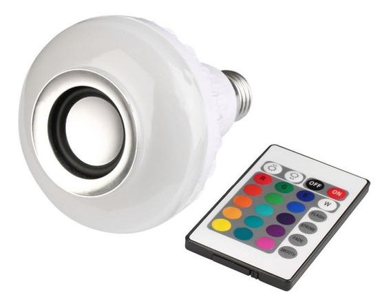 Lampada Luz Led Rgb Bluetooth Caixa Som Controle Remoto