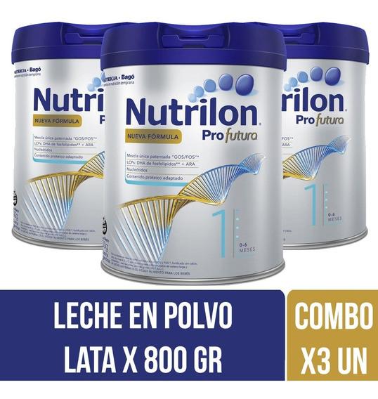 Nutrilon Profutura 1 Leche Infantil 800 Gr Combo X 3 Latas