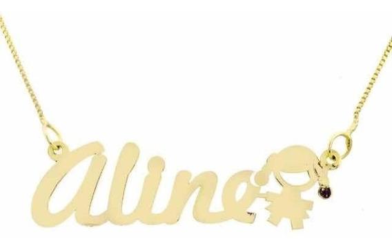 Corrente + Pingente Nome Personalizado Ouro 18k.frete Grátis