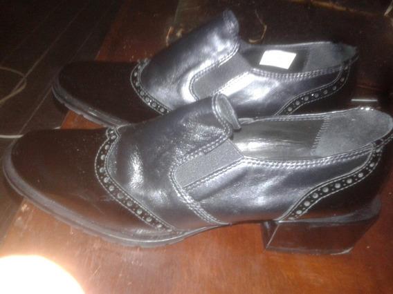 Zapatos De Dama De Cuero Marca Pecari. Talle 39.preciosos.