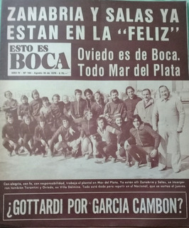 Esto Es Boca N°164.boca En Mar Del Plata.zabria,salas. 1976