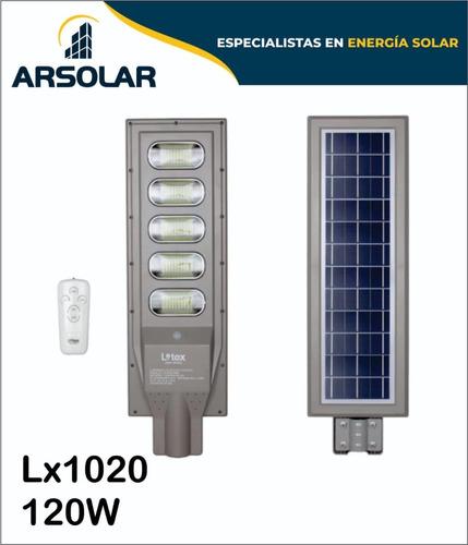 Luminaria Led Solares Con Sensores De Movimiento 120w