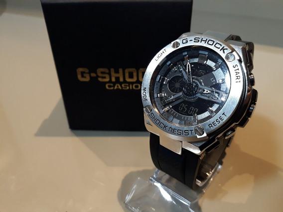 Relógio G-shock / Aço Escovado + Caixa E Almofada De Brinde