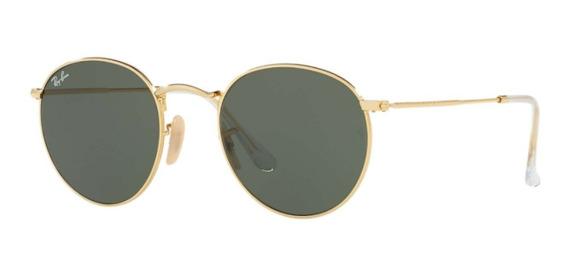 Óculos De Sol Ray Ban Rb3447 Round Metal Unissex