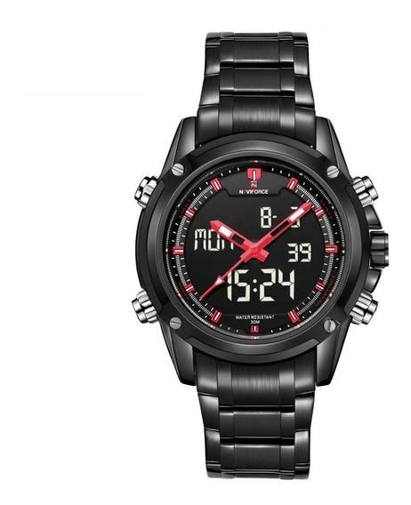 Relógio Naviforce 9050 Masculino Esportivo Militar Original