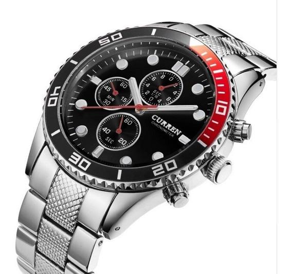Relógio Pulso Masculino Curren Luxo A Prova D