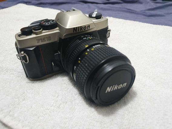 Câmera Slr Nikon Fm 10