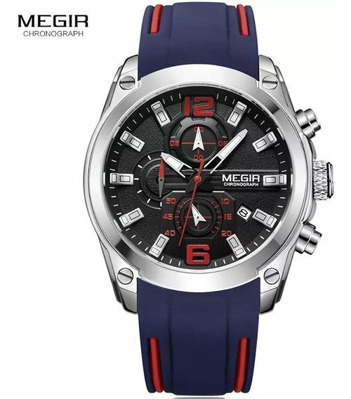 Relógio Megir 2063 Masculino Original Casual Esportivo