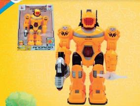 Brinquedo Robô Eletrônico Movimento, Luzes E Som 30cm