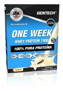 Gentech One Week Whey Protein 7 Sobres X 25grs