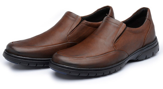 Sapato Conforto Stefanello Atib Couro Super Gel Anti Impacto
