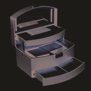 Porta Joias De Material Sintetico Preto Fino Em Acabamento