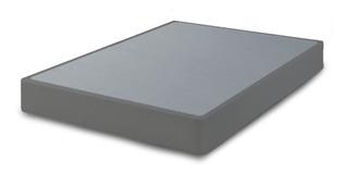 Base Box Para Cama Individual Tapizado Gris +patas+envio