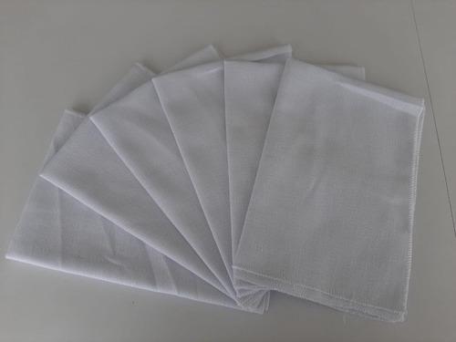 Limpión En Tela Blanco. 35cm X50 Cm. Paquete Por 6 Unidades.