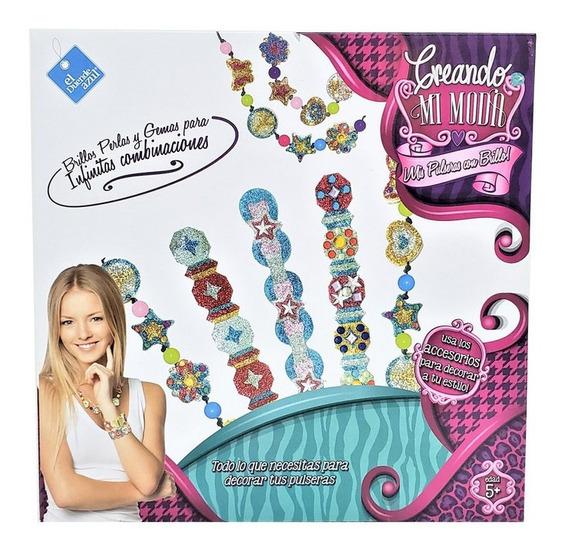 Creando Moda Pulseras C/ Brillos Perlas Y Gemas 6856 Bigshop