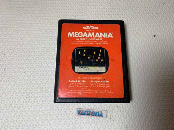 Megamania Actvision Label Laranja Atari 2600 Compatíveis