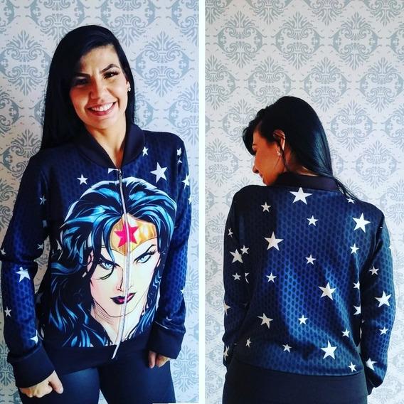 Jaqueta Blusa Feminina Mulher Maravilha