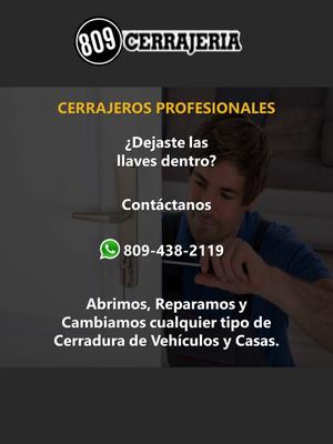 Cerrajeria En General De Casas Y Vehiculos