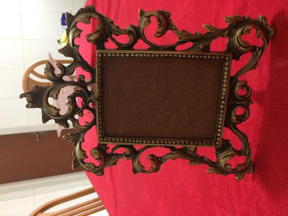 Porta Retratos Em Bronze Maciço - Modelo 12