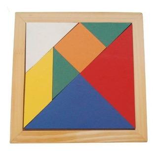 Brinquedos Educativos - Jogo Tangram - 20x20cm 7 Peças