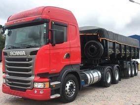 Entrada R$ 10.200,00 Scania G 440 + Implemento Caçamba 2015