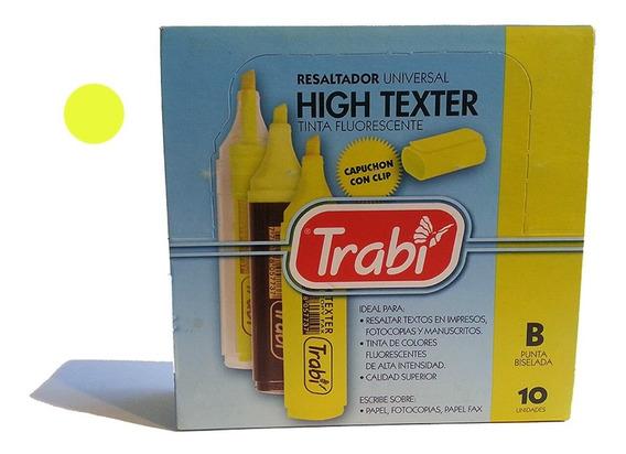 Caja X10 Resaltador Trabi High Texter Marcador Fluo