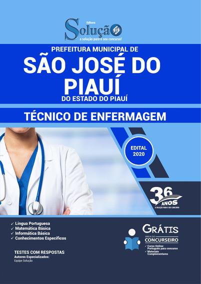 Apostila Pref De São José Do Piauí - Pi 2020 - Técnico Enfer