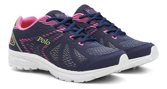 Tênis Polo Feminino Caminhada Esporte Corrida Conforto Macio