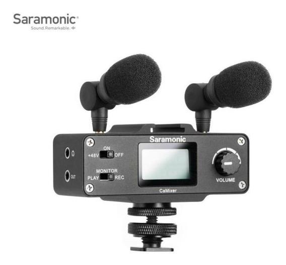 Microfone E Mixer Para Câmeras Digitais Dslr Saramonic Cami