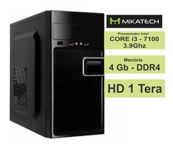 Pc Mikatech Home I3-8100 3.6ghz 4gb Ddr4 1tb