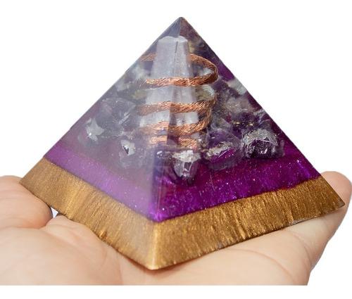 Orgonite De Ametista Transmutação E Poder Da Chama Violeta