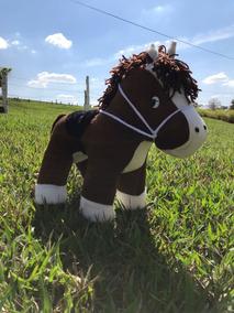 Cavalo Jack Pelúcia Marrom 30 Cm Menino / Menina