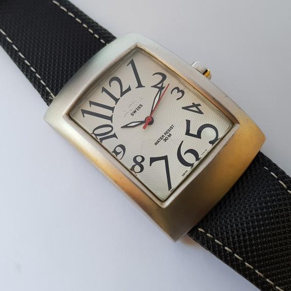 Relógio Activa Cuadro Sl052-001 Swiss Movement