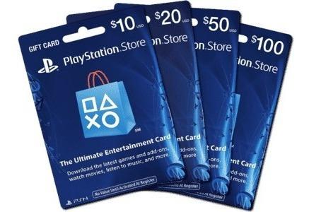 Tarjeta Recarga 20 Usd Playstation - Ps3 Ps4 Psvita Fornite