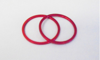 Espaçador Calço Aluminio Movimento Central Vermelho (2 Pçs)