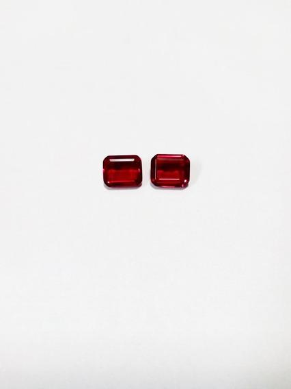 2 Cristal Rubi 12mm X 10mm