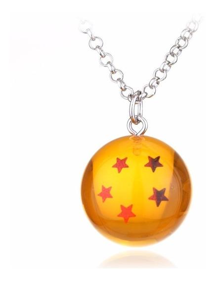 Colar Cordão Dragon Ball Z Goku Esfera Do Dragão 5 Estrelas