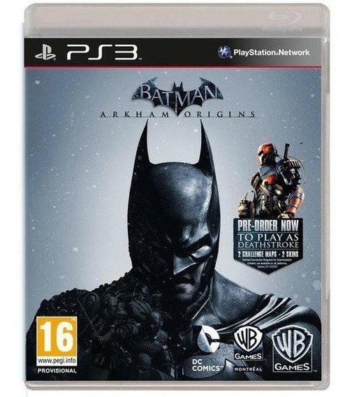 Game Ps3 Batman Arkhan Origins - Original - Novo - Lacrado