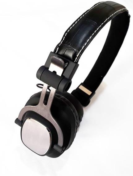 Fone Ouvido Bluetooth Recarregável S/ Fio Aux P2 Sd Fm A 860