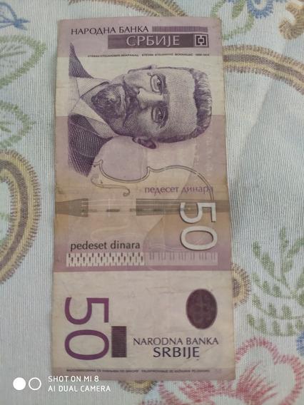 Nota De 50 Dinar Sérvio