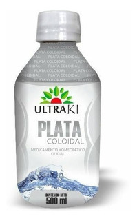 Plata Coloidal500ml Ultraki Medicamento Homeopatico 3frascos