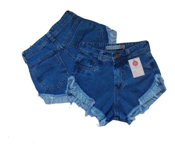 Kit 5 Shorts Jeans Feminino Atacado Cintura Alta Hot Pant