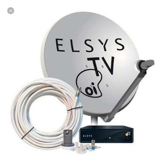 Kit Com 5 Oi Tv Livre, Elsys E Com Antena De 90 Cm Completa.